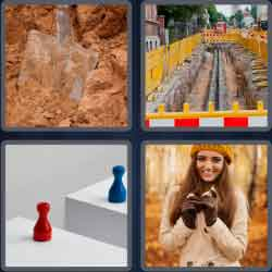 4 Pics 1 Word 6 Letters Trench