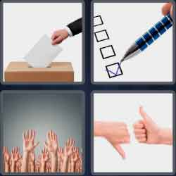 4 Pics 1 Word 6 Letters Voting