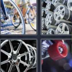 4 Pics 1 Word 6 Letters Wheels