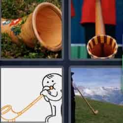 4 Pics 1 Word 7 Letters Alphorn