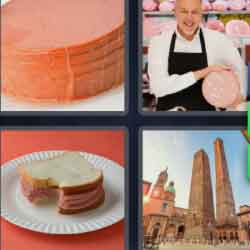 4 Pics 1 Word 7 Letters Bologna