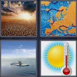 4 pics 1 word 7 letters climate