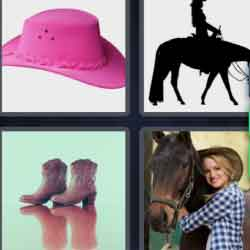 4 Pics 1 Word 7 Letters Cowgirl