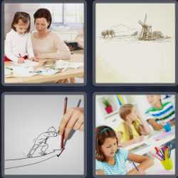 4-pics-1-word-7-letters-drawing