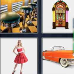 4 Pics 1 Word 7 Letters Fifties
