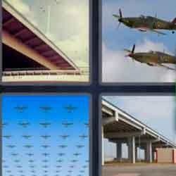 4 Pics 1 Word 7 Letters Flyover