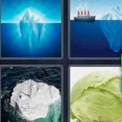 4 Pics 1 Word 7 Letters Iceberg