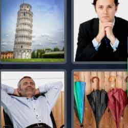 4 Pics 1 Word 7 Letters Leaning