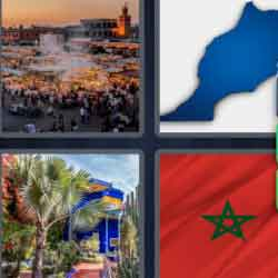 4 Pics 1 Word 7 Letters Morocco