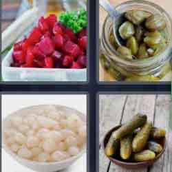 4 Pics 1 Word 7 Letters Pickled