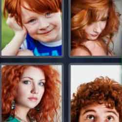 4 Pics 1 Word 7 Letters Redhead