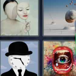 4 Pics 1 Word 7 Letters Surreal
