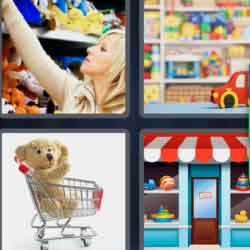 4 Pics 1 Word 7 Letters Toyshop