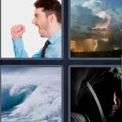 4 Pics 1 Word 7 Letters Violent