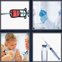 4 Pics 1 Word 7 Letters Level 3679 Syringe