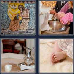 4 Pics 1 Word 7 Letters Level 3688 Baptism