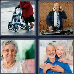 4 Pics 1 Word 7 Letters Level 3717 Elderly