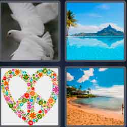 4 pics 1 word 7 letters white dove
