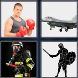 4 pics 1 word 7 letters firefighter