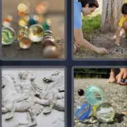 4 Pics 1 Word 7 Letters Marbles
