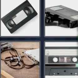 4 pics 1 word 8 letters Cassette