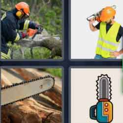 4 pics 1 word 8 letters Chainsaw