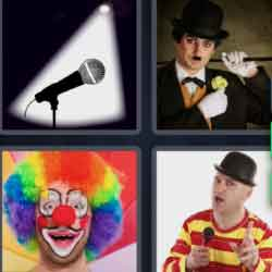 4 Pics 1 Word 8 Letters Comedian