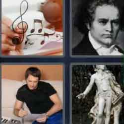 4 Pics 1 Word 8 Letters Composer