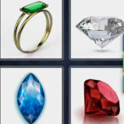 4 pics 1 word 8 letters Gemstone