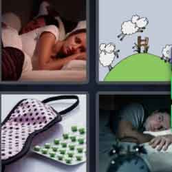 4 pics 1 word 8 letters Insomnia