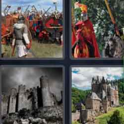 4 pics 1 word 8 letters castles medieval soldiers knight