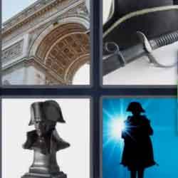 4 pics 1 word 8 letters Napoleon
