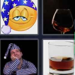4 pics 1 word 8 letters Nightcap