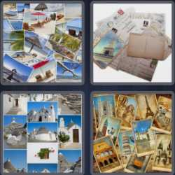 4-pics-1-word-8-letters-postcard