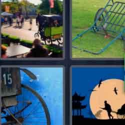 4 pics 1 word 8 letters Rickshaw