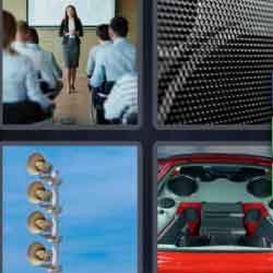 4 pics 1 word 8 letters teacher speakers teaching