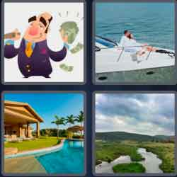 4 pics 1 word 8 letters afluent
