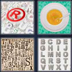 4 pics 1 word 8 letters alphabet