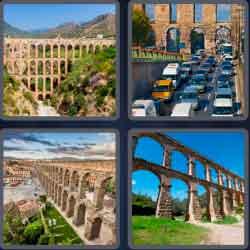 4 pics 1 word 8 letters aqueduct