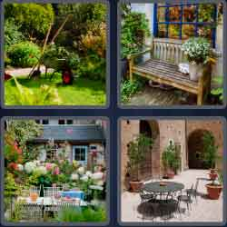 4 pics 1 word 8 letters backyard