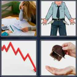 4 pics 1 word 8 letters bankrupt