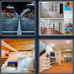 4 pics 1 word 8 letters basement