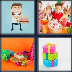 4 pics 1 word 8 letters birthday
