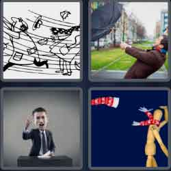4 pics 1 word 8 letters blustery