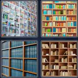 4 pics 1 word 8 letters bookcase