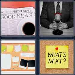 4 pics 1 word 8 letters bulletin