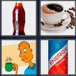 4 pics 1 word 8 letters caffeine