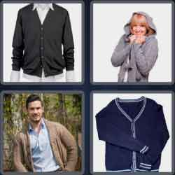 4 pics 1 word 8 letters cardigan