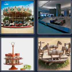 4 pics 1 word 8 letters carousel