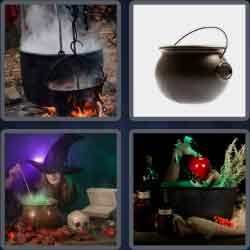 4 pics 1 word 8 letters cauldron